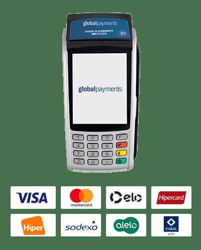 Máquina Global Payments.