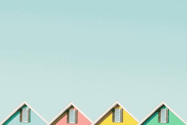 Ilustração de casas simbolizando o tema Casa Verde Amarela