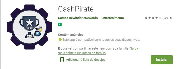 imagem do aplicativo cash pirate na play store