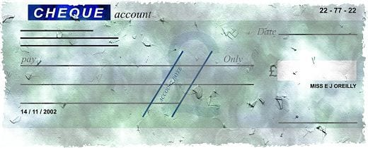 cheque com data
