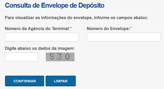 Como consultar um Envelope depositado no Caixa Eletrônico BB