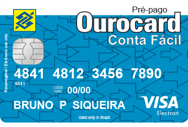 Cartão Pré-Pago da Conta Fácil BB