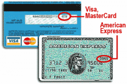 Identifique o CVV do seu cartão.