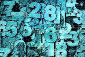 Ilustração de vários números simbolizando o tema dígito da conta