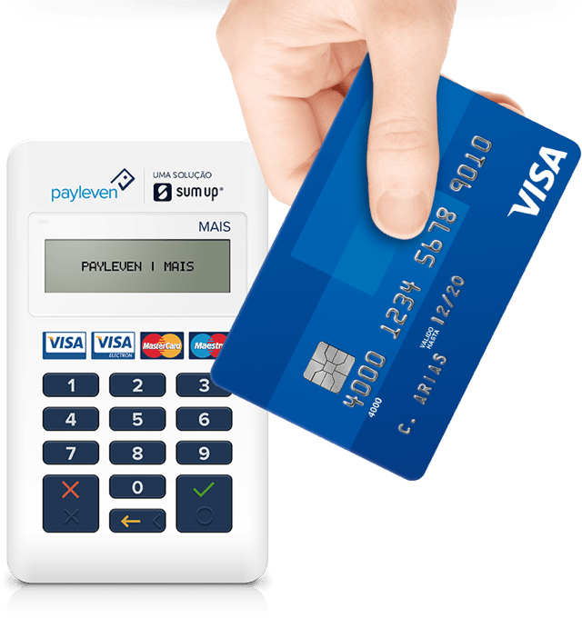maquina de cartão Payleven Mais