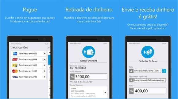 O aplicativo Mercado Pago possui diversas funções.