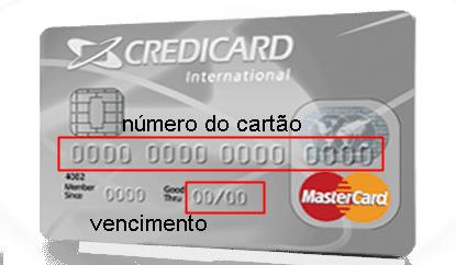 Data de vencimento do cartão