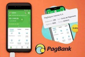 Ilustração do app do PagBank