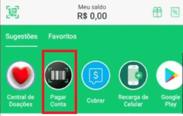 tela do app picpay para mostrar como pagar boleto