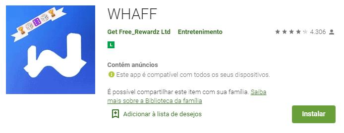 imagem do aplicativo WHAFF na play store