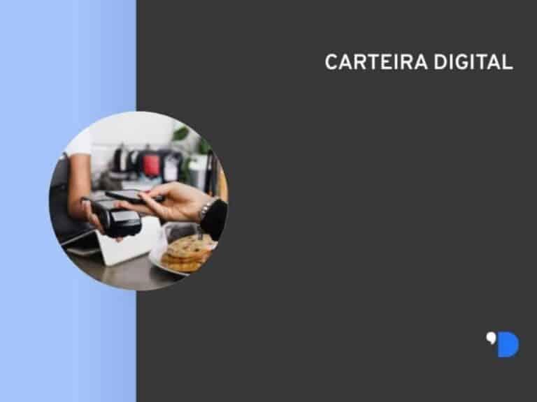 imagem personalizada com a representação de uma transação financeira por meio de carteira digital