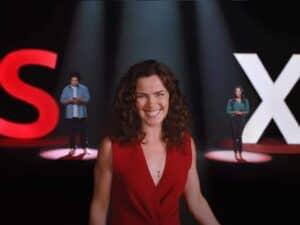 Imagem da campanha publicitária do Santander, apresentando a nova solução financeira do Santander