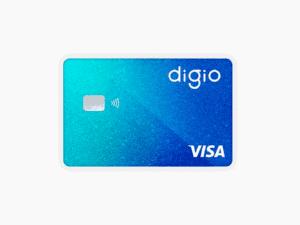 cartão digio, representando digioconta rende 100% cdi