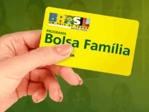 cartão bolsa família, representando quinta parcela do auxílio emergencial