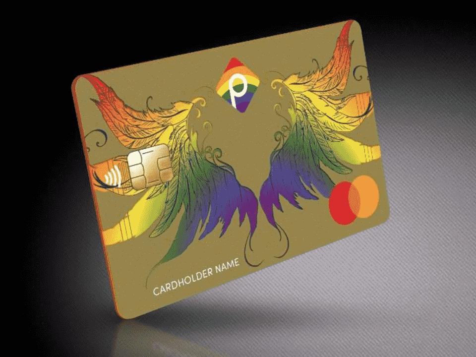 cartão com nome social do pride bank