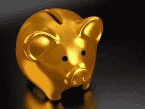 cofrinho dourado, representando cdb do banco pan