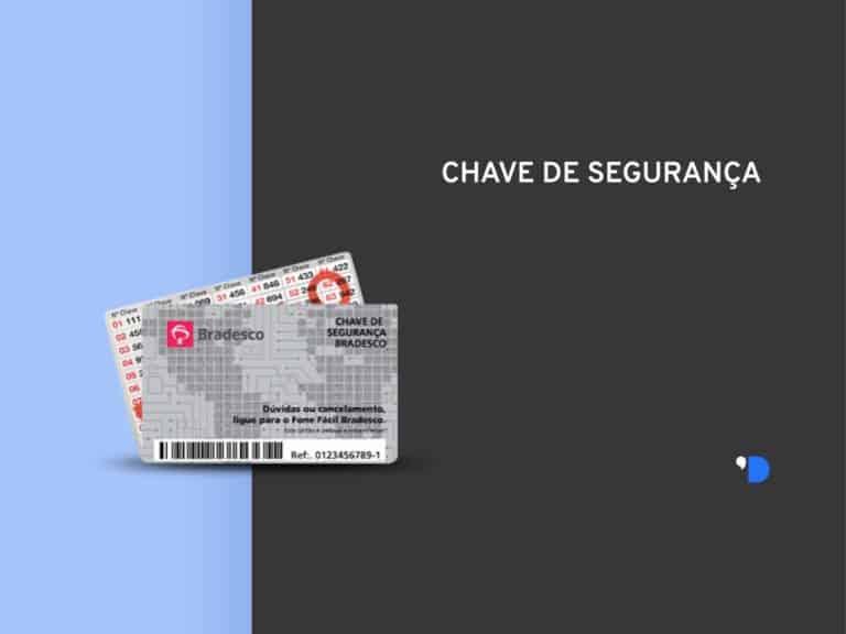 Imagem dos cartões que representam a chave de segurança Bradesco