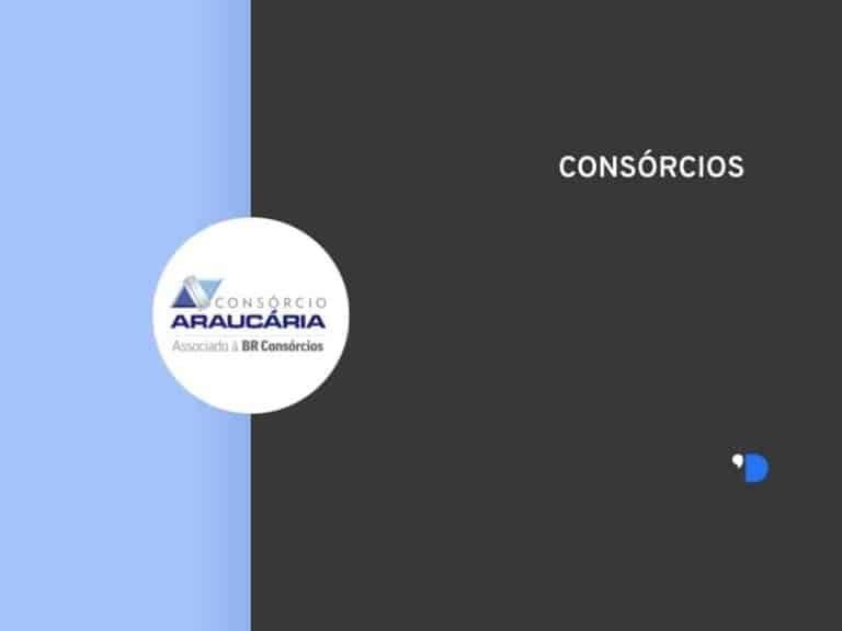 Imagem com a logomarca do consórcio Araucária