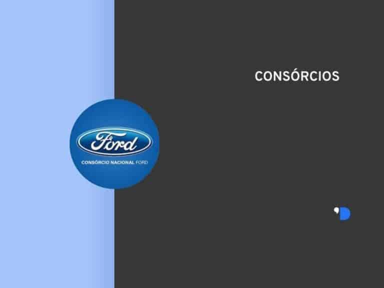 Imagem do consórcio ford, localizado no canto esquerdo da tela, junto com o escrito