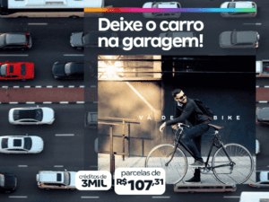 peça de divulgação do consórcio para bicicleta