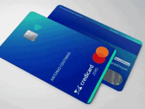 cartão credicard, representando customização do credicard
