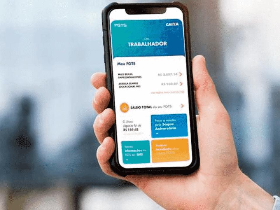 aplicativo fgts, representando fgts emergencial novembro