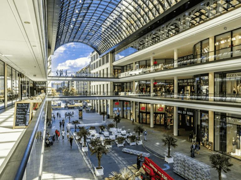 shopping, representando fundos imobiliários populares