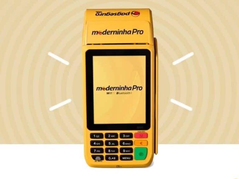 Imagem de uma máquina de cartão Moderninha