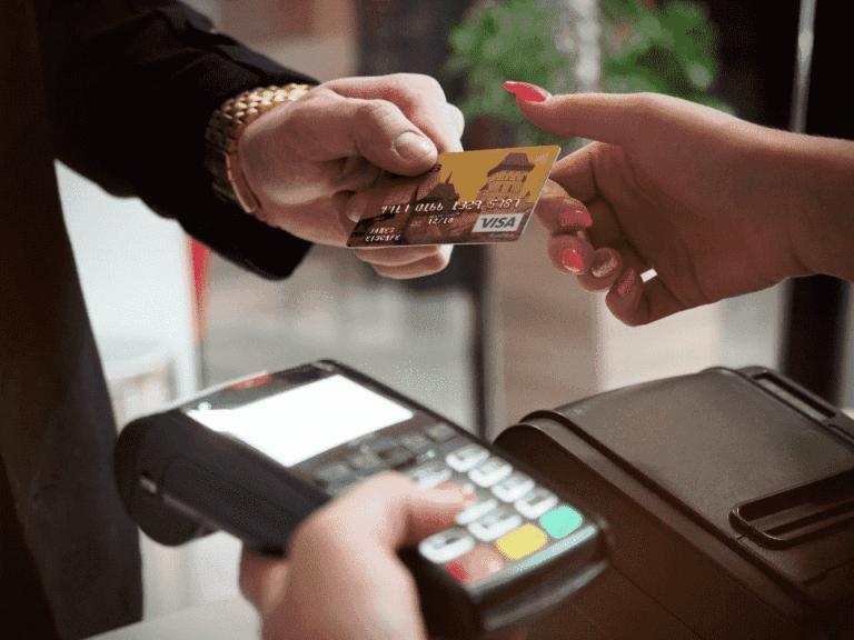 máquina de cartão, representando pix nas maquininhas de cartão
