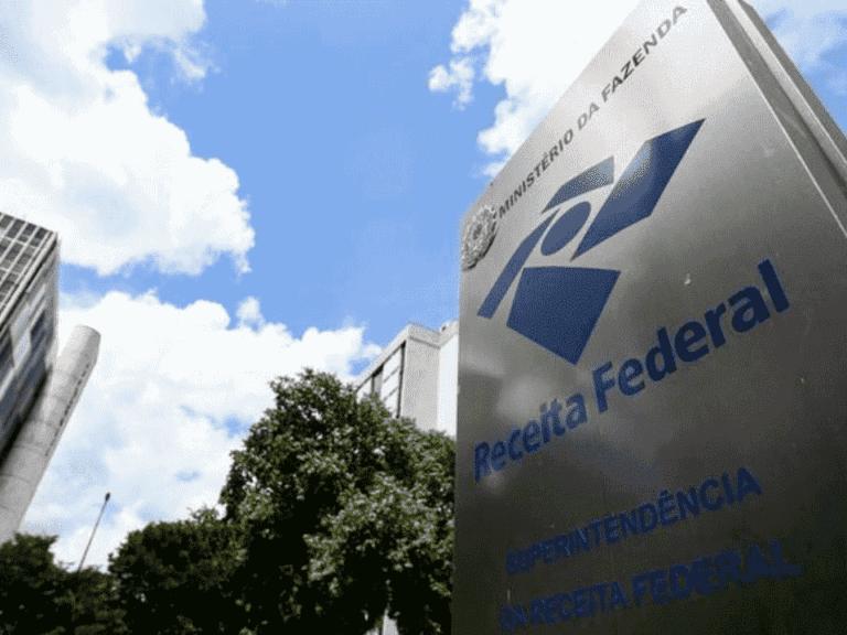 fachada da receita federal, representando restituição do lote 5 do irpf