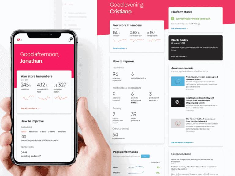 interface do vtex, representando startups unicórnios