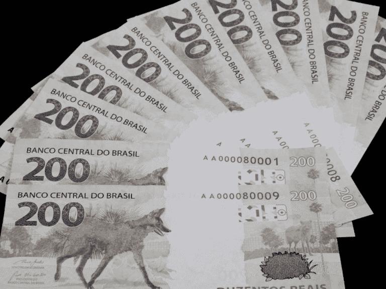 tamanho da nota de R$ 200