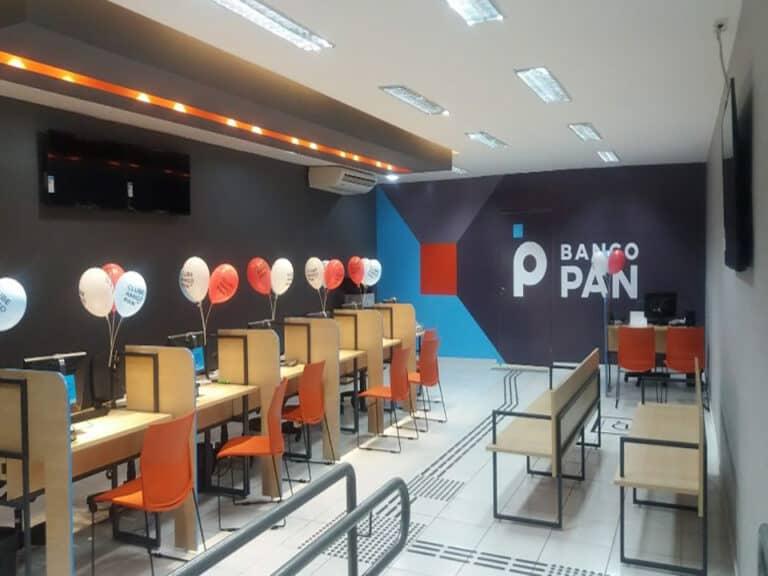 interior do Banco Pan, representando sorteio PIX