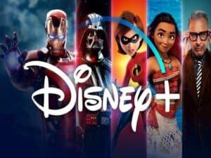 logo e personagens da Disney representando lançamento do Disney+
