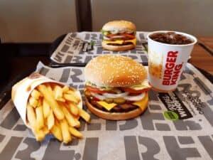 lanche, representando Promoção Burger King