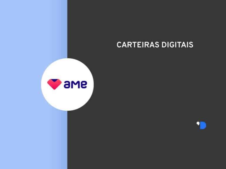 Imagem com a logomarca da Ame Digital