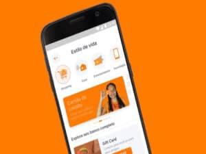 celular com aplicativo do inter, representando cashback turbinado pix