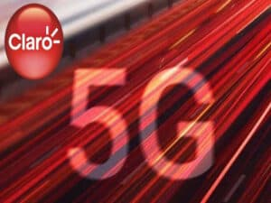 foto de divulgação com logo da claro e texto com 5g, representando claro deve lançar rede 5G