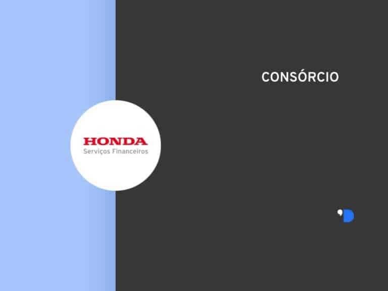 Imagem com a logomarca do Consórcio Honda