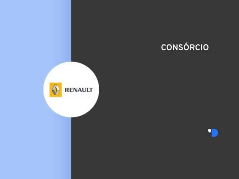 Imagem com a logomarca do Consórcio Renault