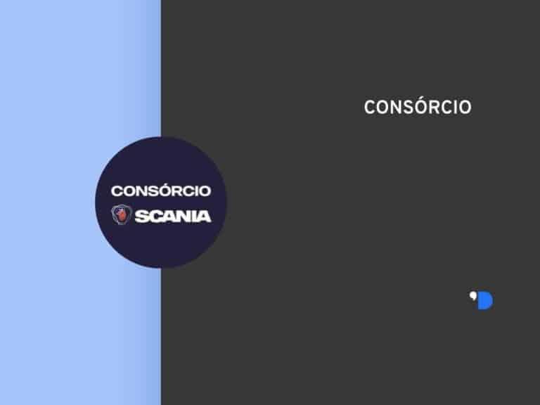 Imagem com a logomarca do Consórcio Scania