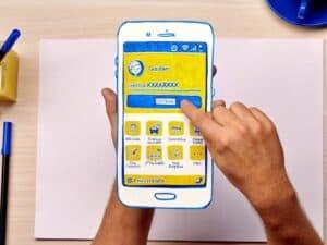 celular, representando contratação de cartões no Banco do Brasil