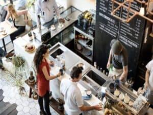 foto de uma cafeteria, representando estoque de crédito bancário para mpme.