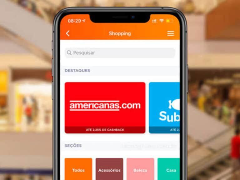 celular com portfólio de produtos do SuperApp