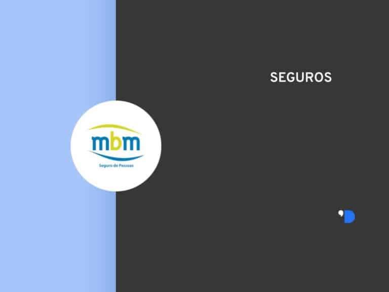 Imagem com a logomarca da MBM Seguradora