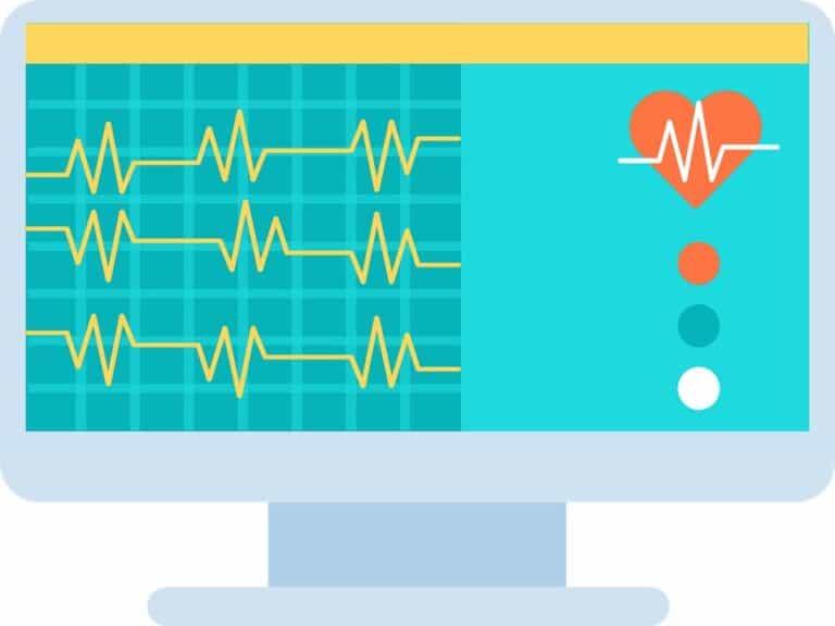 ícone de computador, representando planos de saúde populares