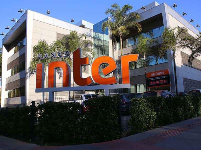 fachada do banco inter, representando taxa home equity