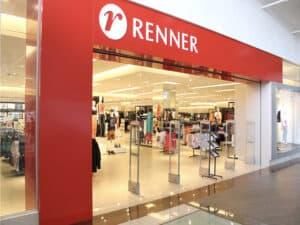 fachada da renner, representando vender roupas usadas