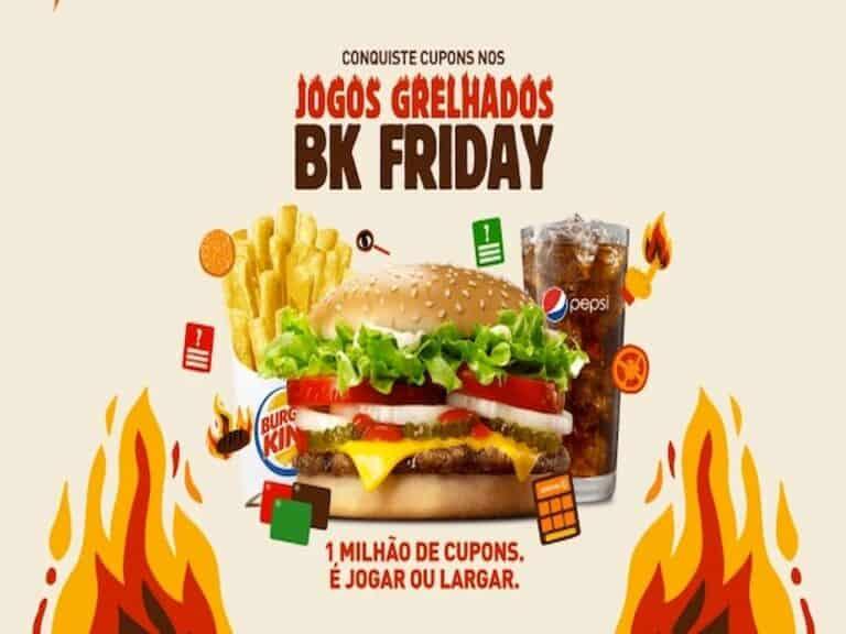 campanha representando BK Friday do Burger King