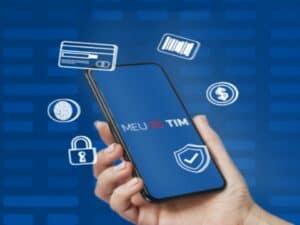 celular com logo da tim, representando smartphones com desconto na black friday